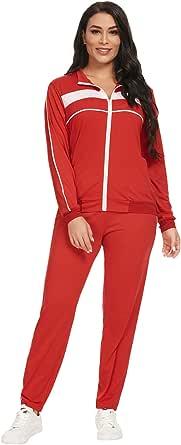 TOP-VIGOR Womens Outfits 2 Piece Tracksuit Ladies Sweatsuit for Women Sweatpants Track Suits Sets