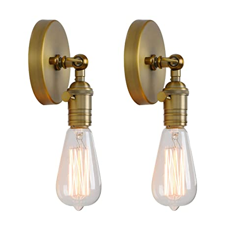 Amazon.com: Permo - Juego de 2 lámparas de pared ...