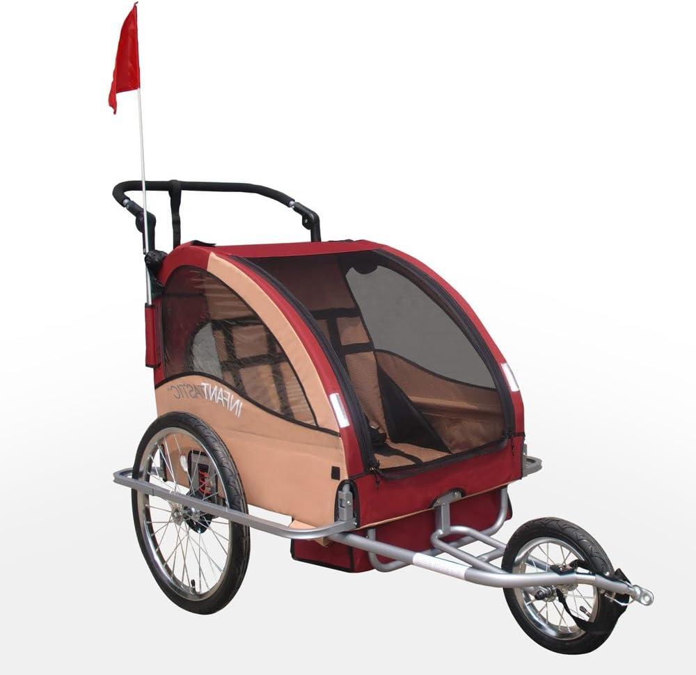Infantastic FAH16/2 de Rumba Red Remolque de bicicleta Plus Jogger ...