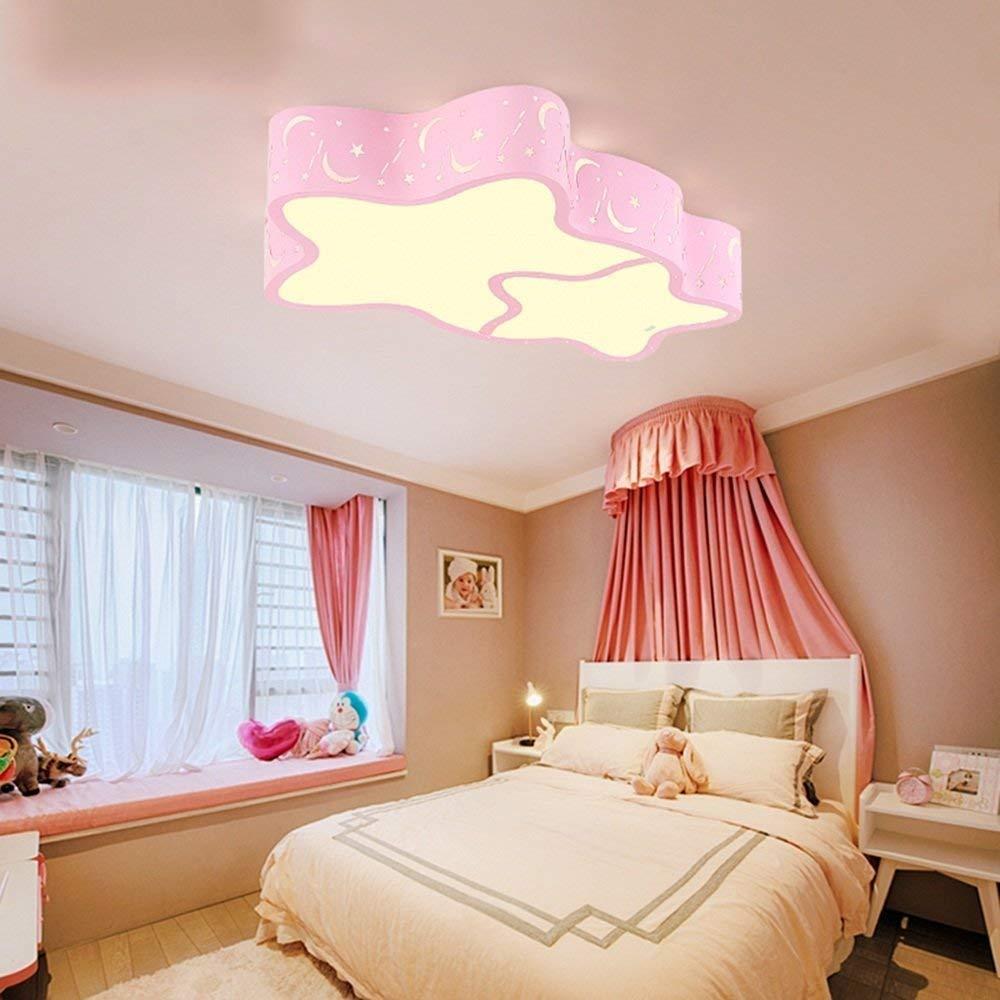 Haiyao 天井ランプ、家の居間の天井ランプ、寝室の装飾のシャンデリア、簡単で及び創造的な天井灯天井灯は部屋のラウンジの寝室のレストランの歩行を導きました。、現代円形のホテルランプ、 (Color : Three-color Dimming-pink-s-18w) B07QRPW6XZ Three-color Dimming-pink-s-18w