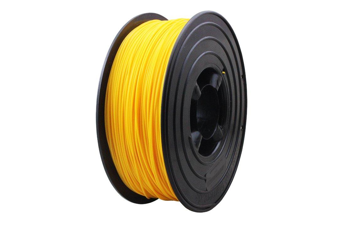 3D Filament 1kg B-Ware Filament Rolle in verschiedenen Farben Rot Gold Silber Grün Blau Braun Lila Violett Beige Transparent Gelb Orange Schwarz Weiß (Melonengelb (B-Ware))
