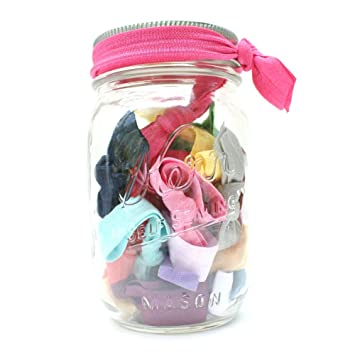 Amazon Com 25 Hair Ties In A Mason Jar Birthday Gift Jar By