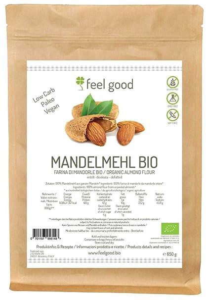 Harina de almendra sin gluten 500 g BIO libre de aceite