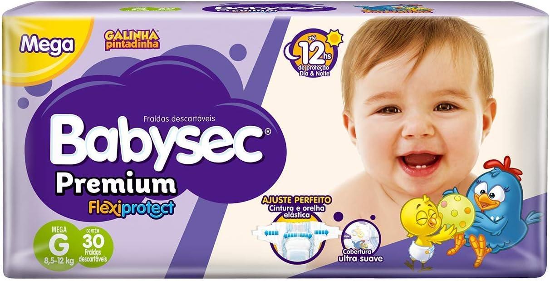 Fraldas descartáveis Babysec Premium Galinha Pintadinha Flexi Protect, 30 Unidades,...