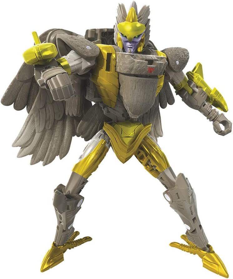 Transformers Toys Generations War for Cybertron Kingdom Deluxe WFC-K14 Airazor Action Figure Kids Ages 8 and Up 5.5-inch