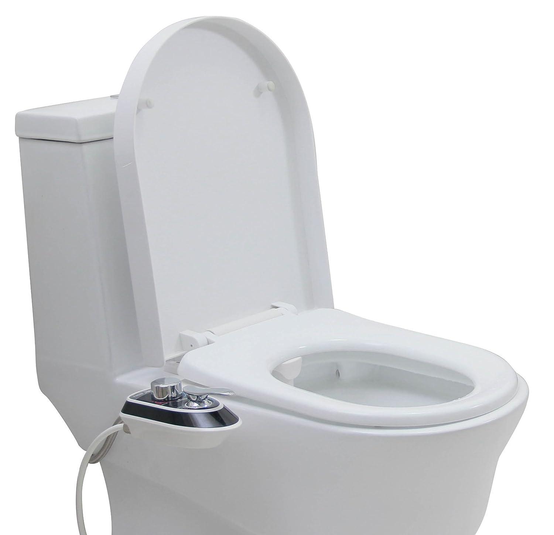 Bidé Benail para ajustar al asiento del inodoro, con sistema mecánico y que pulveriza agua dulce, caliente y fría: Amazon.es: Bricolaje y herramientas