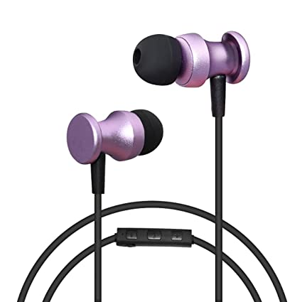 Sowak Sports Bluetooth Headset With Mic Stereo Magnetic Sweatproof Headphones For Running(Purple)