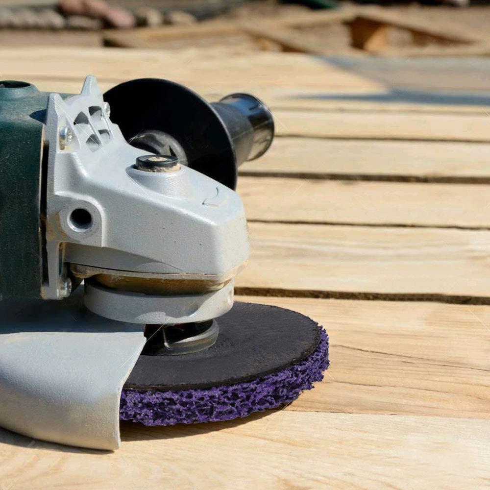 MIZOMOR 2pcs Discos CSD Rostio 125 mm para Amoladora de /ángulo Disco Abrasivo de Policarburo Disco de limpieza Purple