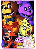 "Five Nights at Freddys Fleece Throw Blanket 45"" x 60"""