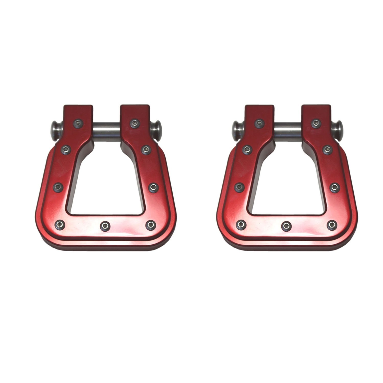 AMI 8802R Red Square D-Ring Billet Hook