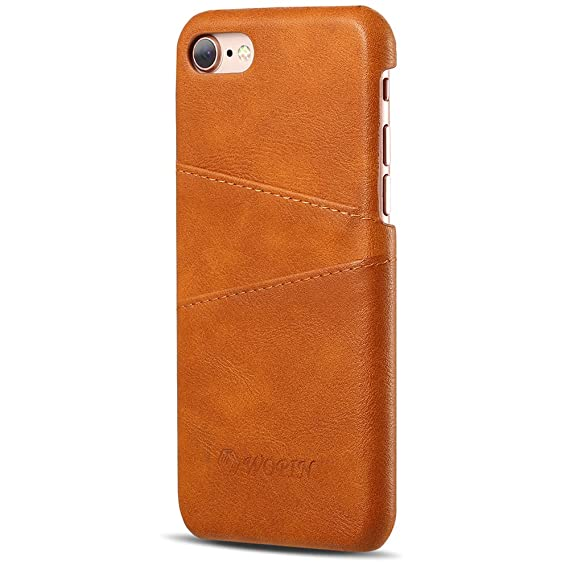 new product 4f9e4 a7db6 Amazon.com: iPhone 8 Back Case Thin PU Leather Wallet Case iPhone 7 ...