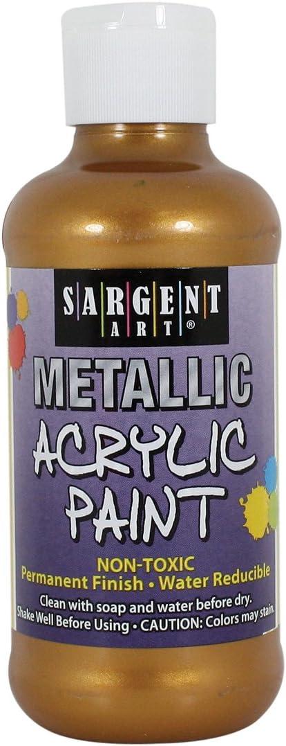 Sargent Art 25-2310 8-Ounce Metallic Acrylic Paint, Aztec Gold