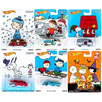 peanuts hot wheels charlie brown christmas 2016 set 6 car collectible pop culture car 2014