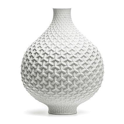 Buy Brittlesign Origami Vase Porcelain Paperwhite Matte