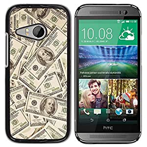 Caucho caso de Shell duro de la cubierta de accesorios de protección BY RAYDREAMMM - HTC ONE MINI 2 / M8 MINI - Money Dollar Wallpaper Wealth Symbol Usa