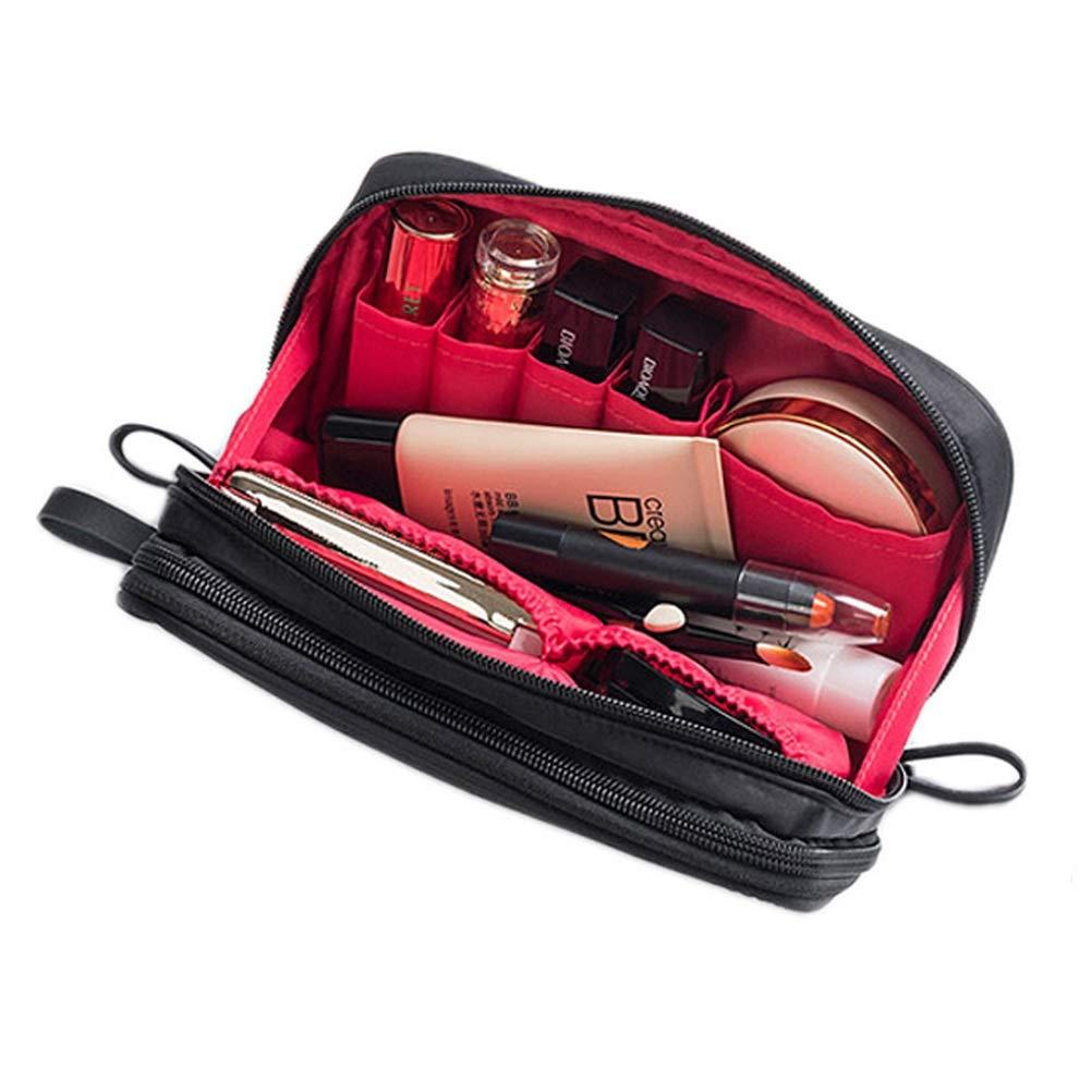 pengxiaomei Makeup bag, Travel Beauty bag Cosmetic & Toiletry Bag Makeup Brush Bag Organizer Kit for Women Girls(Black)