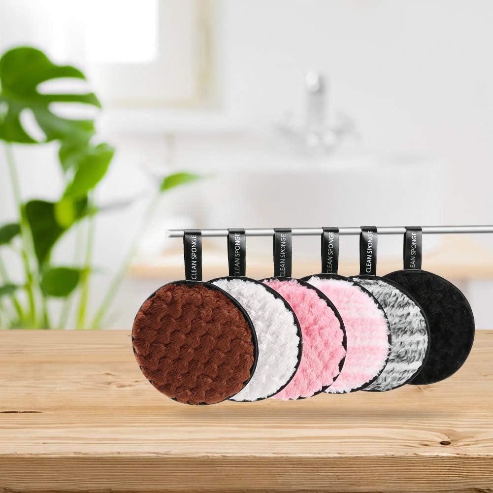 Fnova Tampon en Coton R/éutilisable Nettoyage du visage Tampons En Coton Biologique,Avec Sac /à Linge 6 Pcs Coton Demaquillant Lavable
