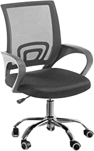 Home Office Gaming Computer Laptop Swivel Lift High Mesh Chair Ergonomic 360 Degree, Black By Galaxy Design