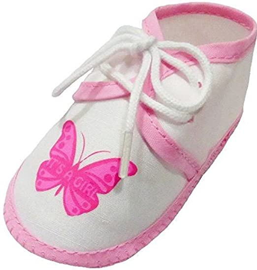 a9845e7ef1e41 Amazon.com: Baby Booties Infant Girl Shoes Pink - White - 0-3 Months ...