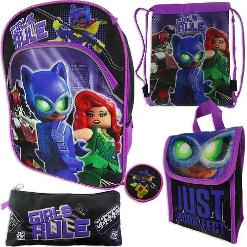 Lego Batman 5-pc. Backpack, Lunch Box & Accessories S