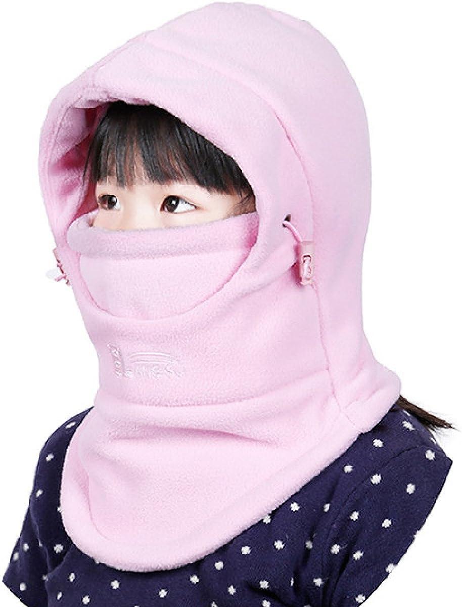 Azarxis Kids Childrens Balaclava Hat Fleece Ski Face Mask Winter Cap Adjustable Double Neck Warmer