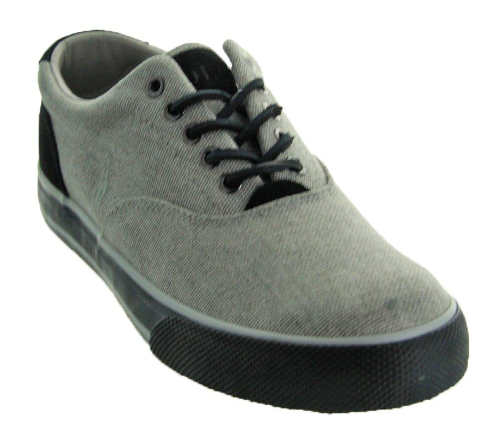 Polo Ralph Lauren Men's Vaughn Lace-Up Sneaker, Grey, Size 12.0