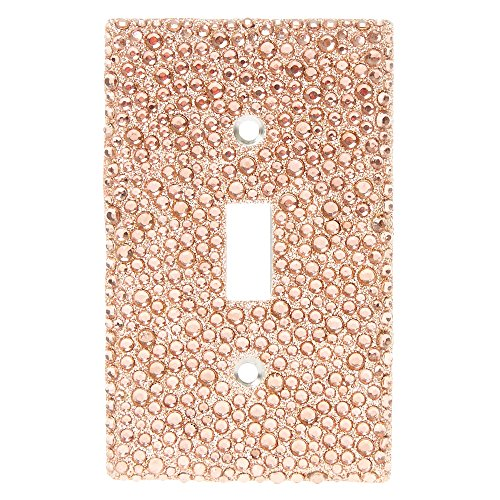 Claire's Rose Gold Crystal Light Switch Plate Girl's Glitter/Gold
