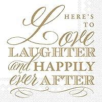 Boston International IHR Servilletas de papel para almuerzo, 16,5 x 16,5 pulgadas, Love And Laughter