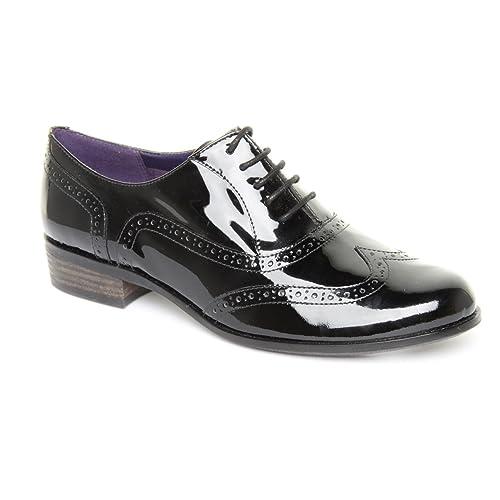 99b4aa234d1 Ladies Clarks Hamble Oak Black Patent Brogues Size 9  Amazon.co.uk ...