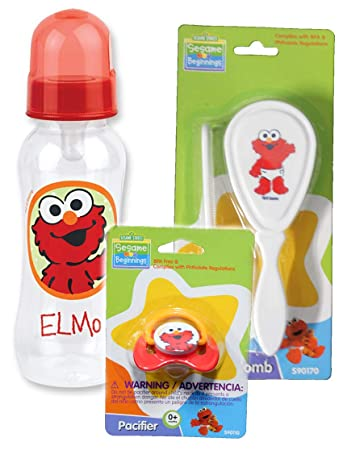 Amazon.com: Sesame Beginnings Elmo - Set de alimentación y ...