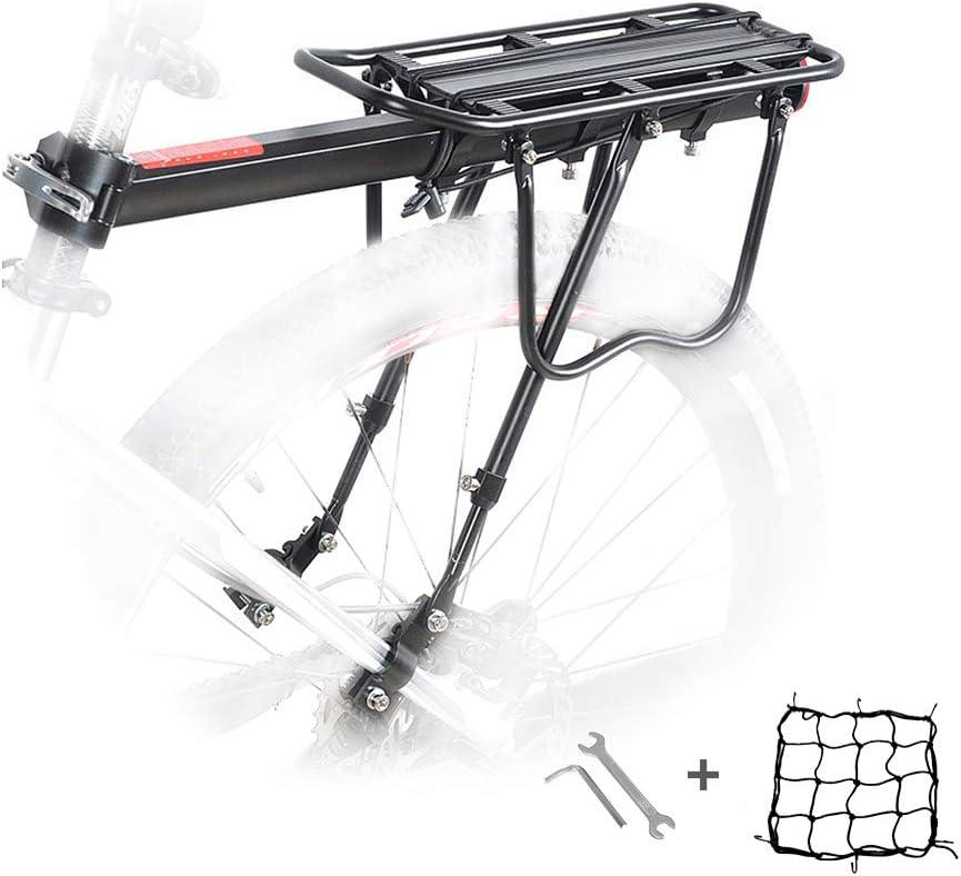 USA Bike Back Rear Rack Bicycle Seat Post Frame Carrier Holder Cargo Racks Black