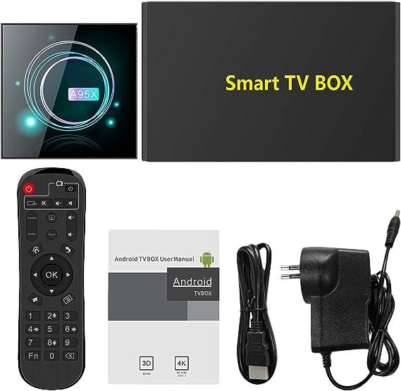 CUHAWUDBA Smart TV Box Android 9.0 A95XF3 S905X3 4GB 64GB 8K HD 2.4/5.0G WiFi para Media Player Android TV Box A95X F3 Slim EU Plug: Amazon.es: Electrónica