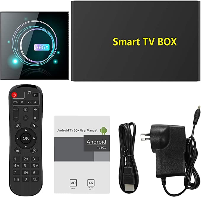 CUHAWUDBA Smart TV Box Android 9.0 A95XF3 S905X3 4GB 64GB 8K HD 2.4/5.0G WiFi para Media Player Android TV Box A95X F3 Slim EU Plug: Amazon.es: Electrónica