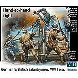 """Masterbox Echelle 1: 35cm à la main à la main lutte/Allemand Britannique et Fantassins/WWI """"Kit de construction de Guerre (Gris)"""