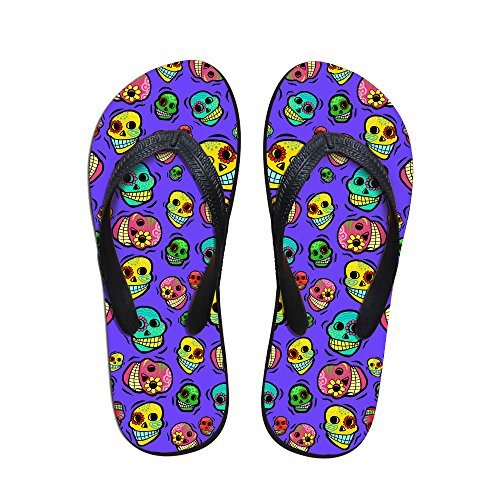 Women Resistant FOR Cartoon Print Flops Slip Cute Purple Rubber with Strap U for Fashion Sandals Flip DESIGNS Men Skulls Summer V AqBUZSwAW