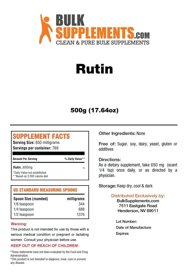 BulkSupplements Rutin Powder (500 Grams)