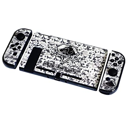 Camouflage Anime Cover Case for Nintendo Switch Slim Rubberized Fission Design Hard Case Nintendo Switch Cover (BW-Camouflage)
