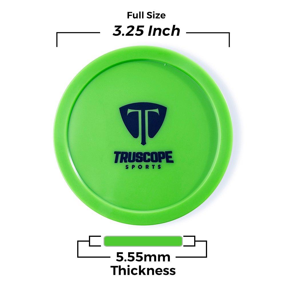 Truscope Sports 12 Pack 3 1//4 inch Air Hockey Pucks