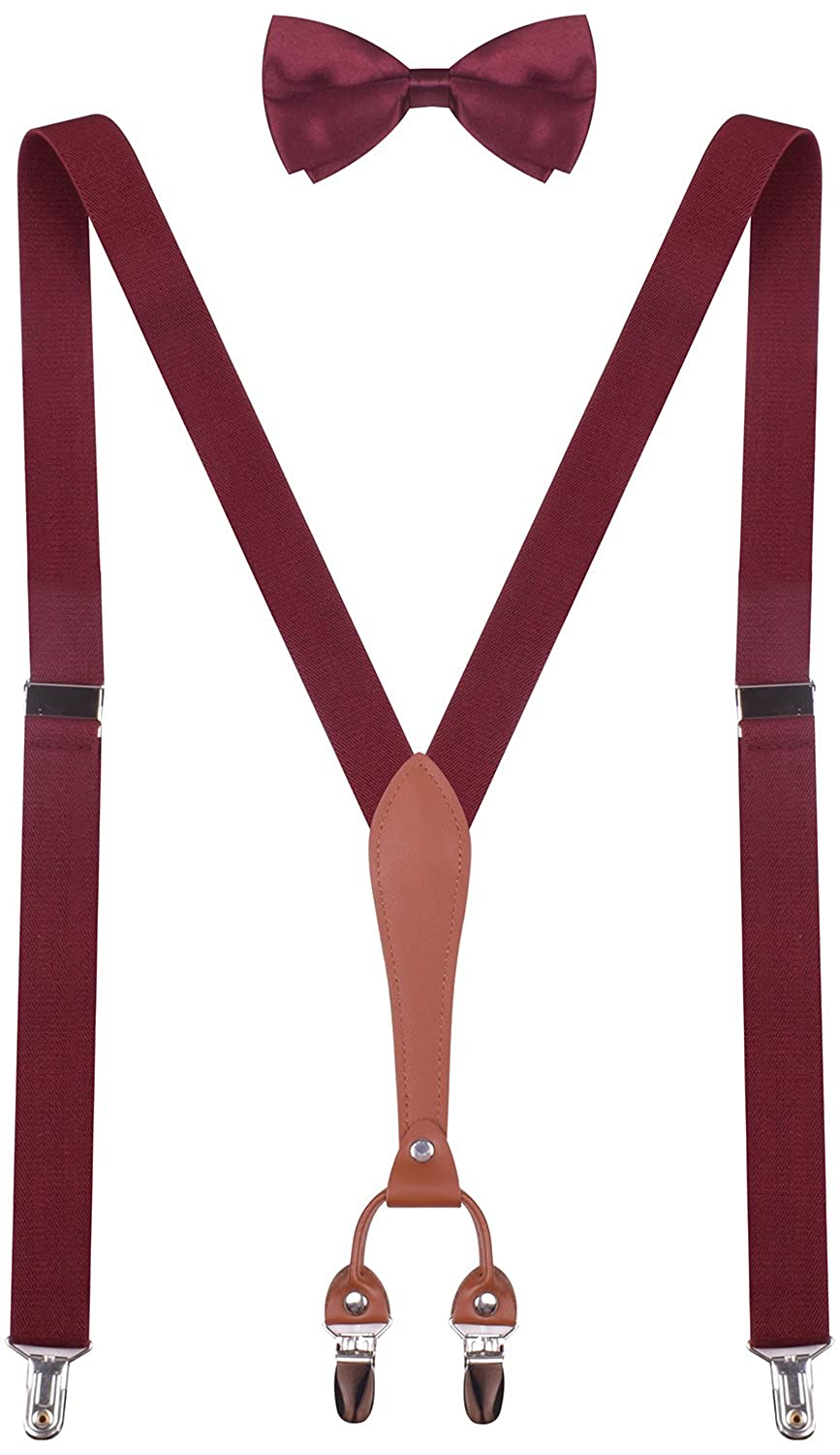 BODY STRENTH Kids Mens Suspenders and Bow Tie Adjustable KXKSKKGIE60023