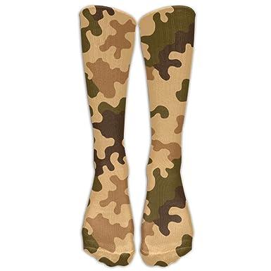Amazon.com: Girls Knee High Socks Fun Camouflage Camo Military ...