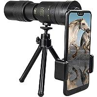 Riiai 10-300X30mm Super Telephoto Zoom Monocular Telescope with BAK4 Prism Lens for Beach Travel Outdoor Activities…