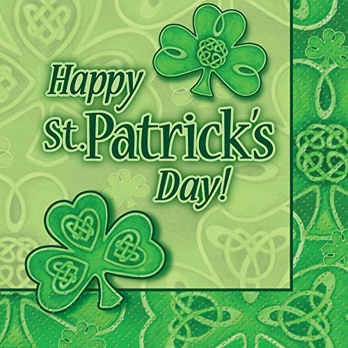 Saint Patrick's Day Clover Beverage Napkins, 24ct