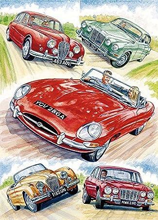 Jaguar Cars Greetings Card 10476 Happy Birthday Amazon