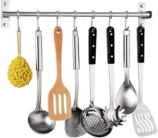 Ganchos de acero inoxidable para colgar utensilios de cocina 40 cm As Picture Show