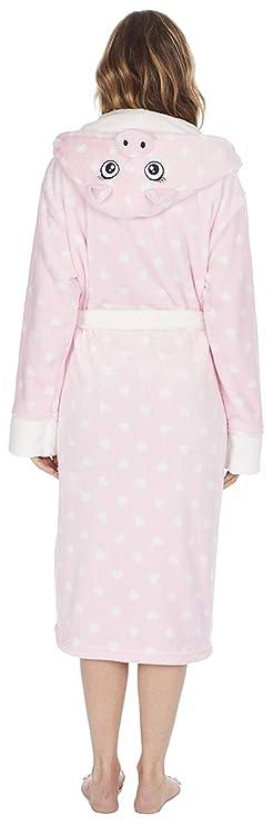 Albornoz con capucha para mujer, de Kate Morgan. Suave y cómodo: Amazon.es: Ropa y accesorios