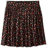 Dolce & Gabbana Kids Girl's Back to School Floral Print Skirt (Big Kids) Black/Rose Print 10 Big Kids