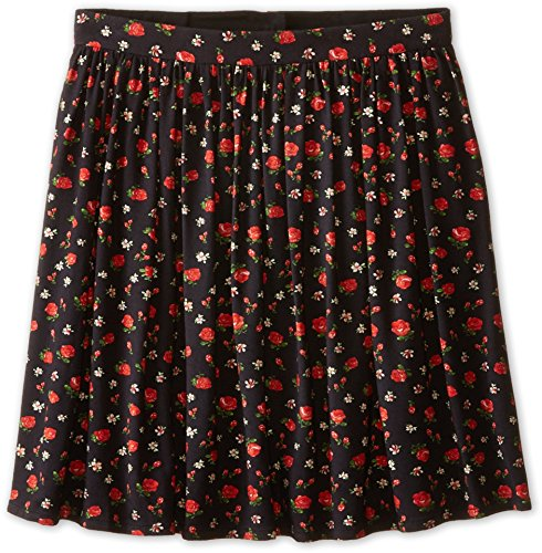 Dolce & Gabbana Kids Girl's Back To School Floral Print Skirt (Big Kids) Black/Rose Print 8 Big Kids by Dolce & Gabbana