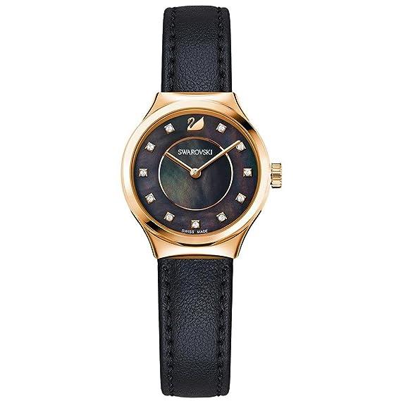Swarovski Mujer Reloj De Pulsera Analógico Cuarzo One Size, Negro, Negro: Amazon.es: Relojes