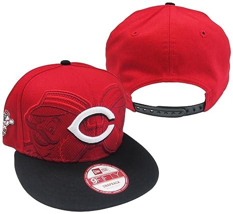 Amazon.com   Cincinnati Reds Double Header Adjustable Snapback Hat ... 9a588048e7c