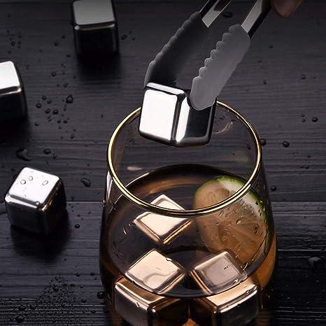 Cubitos de hielo de acero inoxidable de BOLLAER, para whisky ...
